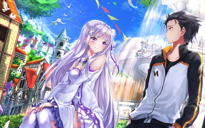 Subaru Natsuki and Emilia
